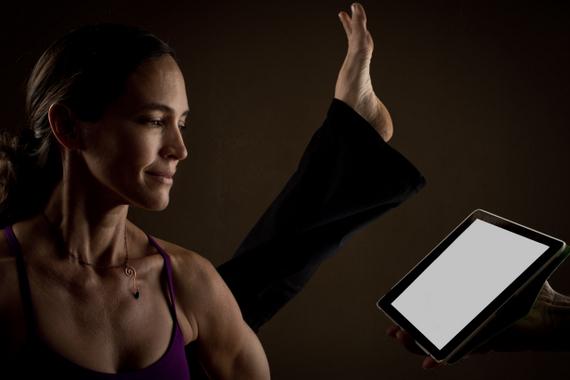 Pacific Magazine Strike App Pose - Amy Caldwell of Yoga One