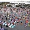 Yoga One on the USS Midway
